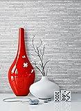 Steintapete Grau Schiefer | schöne edle Tapete im Steinmauer Design | moderne 3D Optik für Wohnzimmer, Schlafzimmer oder Küche inklusive NewroomTapezier-Profibroschüre, mit Tipps für perfekteWände
