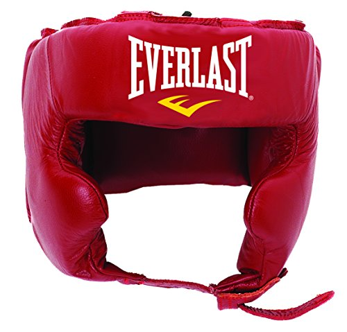 Everlast Erwachsene Boxartikel 340 Ce Leather Pro Trad Headgear, Black, L, L/057243 08350