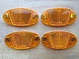 4x Fahrrad Speichen Reflektoren - Katzenauge - orange