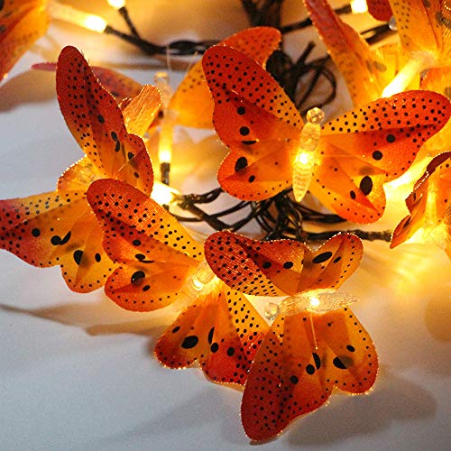 Solar Garten Lichterketten, Led Honey Bee Moth Fairy Light Solarbetriebene Wasserdichte Outdoor String Lampe Für Patio Yard Indoor Schlafzimmer Dekor (Warmweiß)