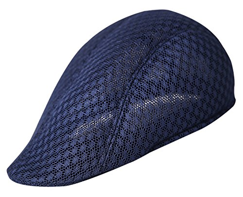AIEOE Gorra Boina Sombrero con Visera Cap Beret de Mallas Fresco Retro  Casual para Verano eca49d06c07