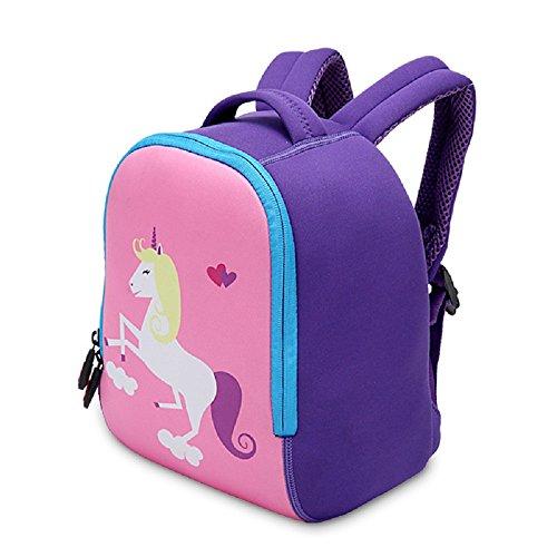Kindergarten Wasserdicht Rucksack Kleinkind Baby Mädchen Einhorn Karikatur Backpack Schultasche