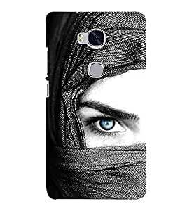 Vizagbeats Blue Eye Lady Back Case Cover for Huawei Honor 5X