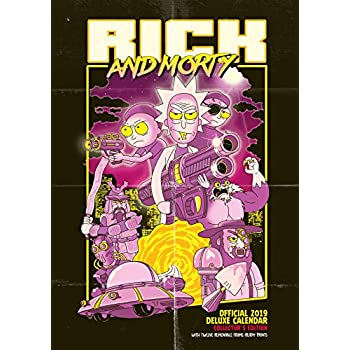 Rick & Morty Deluxe Official 2019 Calendar - A3 Format with Presentation Envelope
