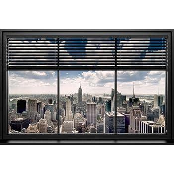 Poster blick aus dem fenster auf manhattan new york gr e 61 x 91 5 cm maxiposter - Blick aus dem fenster poster ...