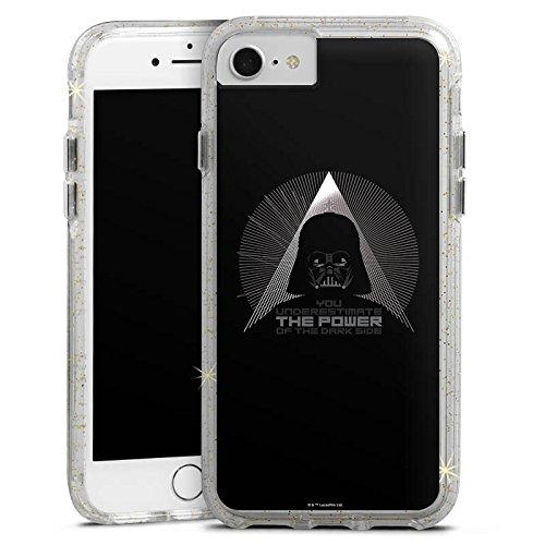 Apple iPhone X Bumper Hülle Bumper Case Glitzer Hülle Star Wars Fanartikel Zubehoer Darth Vader Bumper Case Glitzer gold