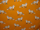 1Meter Prestigious Textiles Fox Umber Baumwolle Vorhang
