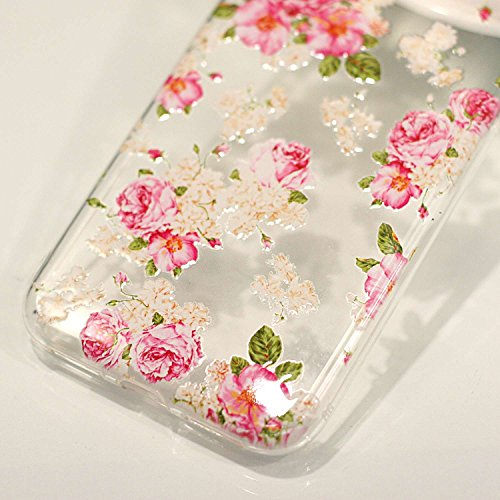 inShang iPhone X 5.8inch custodia cover del cellulare, Anti Slip, ultra sottile e leggero, custodia morbido realizzata in materiale del TPU, frosted shell , conveniente cell phone case per iPhone X 5. Peony