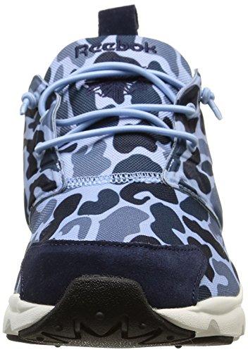 Reebok Furylite Camo, Chaussures Homme Bleue Peack/Slate/Denim