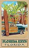 Northwest Art Mall ed-5731BAX Florida Schlüssel Beach Zugang Print von Künstler Evelyn Jenkins Drew, 27,9x 43,2cm