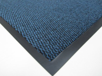Think-Louder Anti Slip Rubber Outdoor Floor Mat, Entrance barrier Rugs Home Kitchen Office Door runner in all colors and sizes 40x60/60x90/60x180/90x150/120x180 - BLUE 90X150