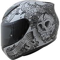 MT Products MT Revenge Skull & Roses Motorcycle Helmet