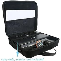 Étui de Voyage Rigide Housse Cas pour Canon Pixma iP110 Imprimante Jet d'encre par co2CREA (Noir 1+ Demi-Grille)