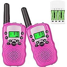 Walkie Talkie PMR446Radio de radio dispositivos dispositivos Walki talki para niños y adultos con baterías Cargador linterna VOX 8canales 0,5W