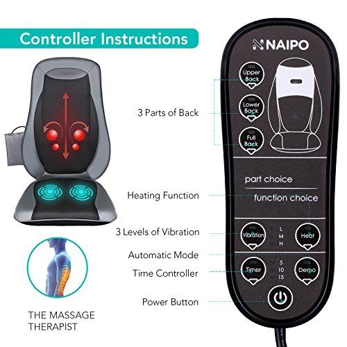 Zoom IMG-1 naipo sedile massaggiante shiatsu massaggiatore