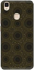The Racoon Grip printed designer hard back mobile phone case cover for Vivo V3. (Yellow Dot)