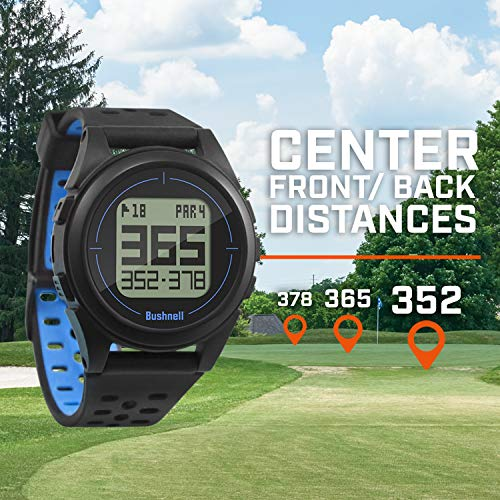 Bushnell Ion 2-Black/Blue GPS de Golf, Negro/Azul, Talla Única