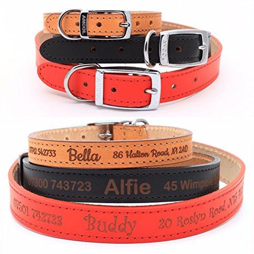 paquet à la mode et attrayant meilleur choix aliexpress Collier de chien chiot en cuir personnalisé, Cuir de qualité ...
