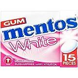 12 paquets de gomme blanche Mentos White Bubble (12 x 22.5g)