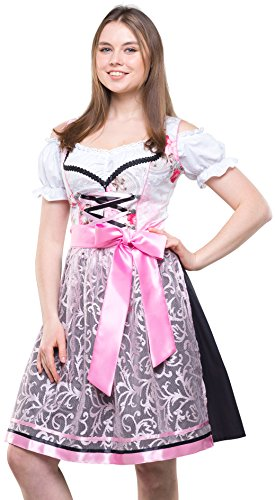 Bavarian Clothes ABVERKAUF/Sale Dirndl Damen Trachtenkleid Kleid 3 TLG. mit Dirndlbluse Schürze geblümt...