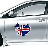 DIYthinker Karte Island Abstrakte Flagge Muster-Auto-Aufkleber auf Auto-Styling Aufkleber Motorrad-Aufkleber für Auto-Zubehör Geschenk 50Cm