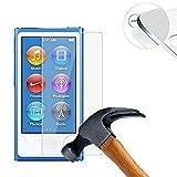 Lusee® 2 X Pack Protezione Schermo vetro temperato per Apple iPod nano 8 Pellicola Vetro Protettivo Salvaschermo e Film protettiva ultra-duro vetro 9H