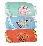 #8: My NewBorn Cute HIgh Quality Baby Blanket Wrap Sheet with Fancy BORDRES- 3 Pcs. set (Rust-Green-SKy)