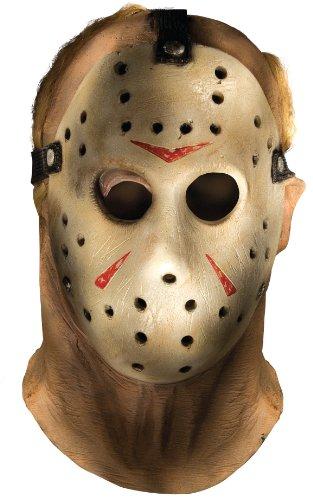 Rubie's Costume Co-Friday The 13Th Jason Voorhees-Overhead-Maschera, colore: grigio, taglia unica