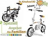 Airwheel 2x R3 (Weiß, Weiß) Faltbares Elektrofahrrad E-Bike Pedelec (Weiß/Weiß)