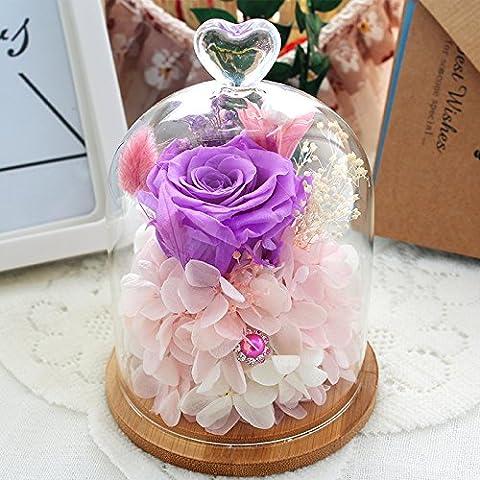 HOOM-Oeillet Fleur éternelle Fleur Rose Creative Fête des Mères Saint