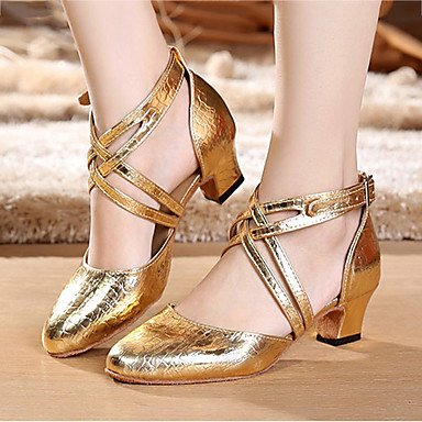 Not Aemember Ize Donne Des Chaussures De Danse Latine / Chunky Heel Sneakers Practice Gold, Us9 / Eu40 / Uk7 / Cn41