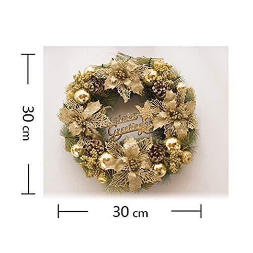 Pendant & Drop Ornaments - Christmas Wreath Pine Needles Merry Garland Balls With Flowers Door Wall Hangings Nice Gift Xmas - Headband Garland Tree Decor Decor Pinecone Pine Decor Tinsel C -