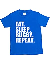 Fancy A Snuggle Eat. Sleep. Rugby. Repeat. Kids Boys / Girls T-Shirt