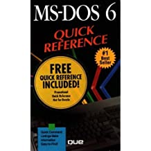 MS-DOS 6 Quick Reference (Que Quick Reference) by Sally Davis Neuman (1993-03-06)