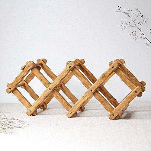 HAIZHEN Kreative Bambus Folding Rack Weinregal Home Dekoration Küche Zubehör Storage Organisation...