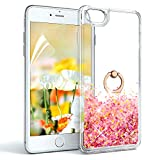 OKZone iPhone 6S Case,iPhone 6 Case + HD Screen Protector, Sparkle Shiny Glitter Flowing Liquid Floating Clear Cover Case for Apple iPhone 6S/iPhone 6 4.7 Inch (Rose Gold)