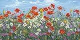 Artland Poster Kunstdruck Wand-Bild Fine-Art-Print in Galeriequalität Reproduktionen A. Heins Almwiese Botanik Blumenwiese Malerei Bunt 50 x 100 x 0,1 cm A7SR