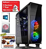 ADMI KL-1 Gaming PC: Intel Core i5 7400 3.5Ghz Quad Core CPU, NVIDIA GeForce GTX 1060 3GB GDDR5 4K VR Ready Graphics Card, 8GB 2400MHz DDR4 RAM, 1TB Hard Drive, 500W PSU Bronze Rated, HD Audio, USB 3.0, HDMI/4K Ultra HD Support, VR/Oculus Support, Kolink Luminosity RGB Black Gaming Case, Pre-Installed with Windows 10
