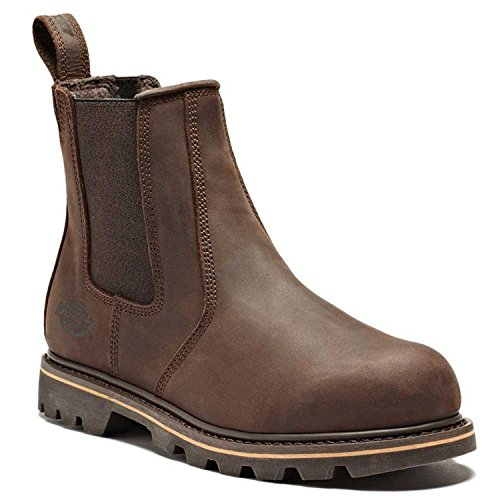 Safety Dealer Boot Dickies Fife in pelle, con punta in acciaio uomo FD9214 da lavoro Crazy Horse