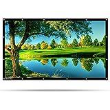 HENZIN Mobile Beamer Leinwand 120 Zoll 16:9 Format 4K 3D HD für Heimkino/Garten/Outdoor (120