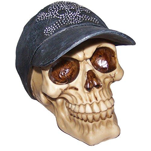 secap☆authentische Schädel Deko Figur☆Fantasy Figuren Horror Halloween Gothik Deko u. Geschenkidee-12 cm hoch (Halloween Rockstar Ideen)