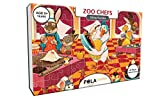 #9: Pola Puzzles Zoo Chefs Tiling Puzzles 60 Pieces For Kids Age 5 years and above Multi Color Size 36CM X 21CM Jigsaw Puzzles for kids