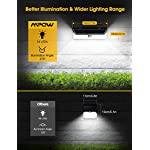 Mpow 54 LED Security Lights, Solar Powered Lights Outdoor Wall Lamp 10