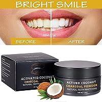 Polvo blanqueador de dientes,Blanqueador Dental de Carbón Activado,Blanqueamiento de dientes,Teeth Whitening Powder,eficaz contra la respiración,refresca la respiración y mejora la salud oral.
