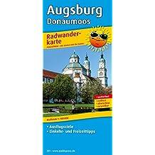 Radwanderkarte Augsburg - Donaumoos: Mit Ausflugszielen, Einkehr- und Freizeittipps, reissfest, wetterfest, abwischbar. 1:100000