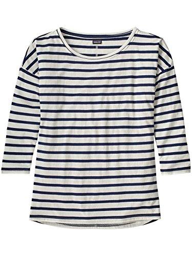Patagonia Shallow Seas 3/4sleeved shirt, Damen S blau (midnight stripe classic navy) (Patagonia-classic-shirt)