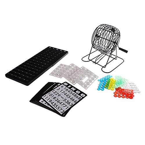 sharprepublic Insgesamt 75 BallsMini Lottery Machine Bingo Spieleset Family Home Entertainment