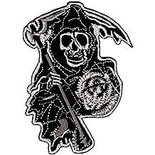 """Bestellmich - Parche termoadhesivo, diseño de símbolo de la muerte de la serie """"Hijos de la Anarquía"""""""