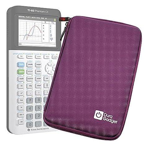 Coque de rangement violette rigide pour Texas Instruments TI-83 Premium, TI 82 Advanced et TI-NSPIRE CX calculatrices scientifiques - résistant à l'eau - DURAGADGET - Calculatrice non fournie
