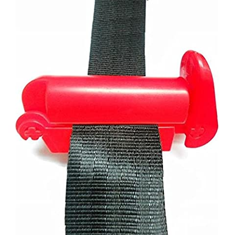 Chronos Coche de la correa del cinturón de seguridad del ajustador clip de ajuste del hombro cuello comodidad